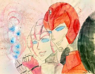 Arcee and Hot Rod by BDNatsuki