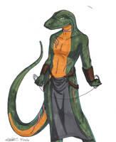 Serpentarius - Lizard by Koshkio