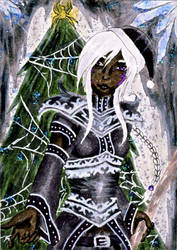aceo #9 - christmas in the underdark by Aran-Artworks