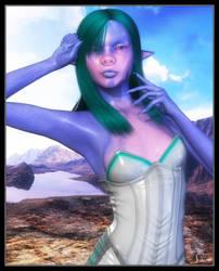 Alien Girlfriend by celticarchie