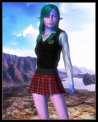 Alien Schoolgirl by celticarchie