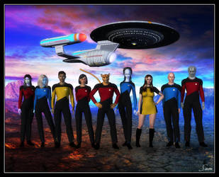 The Crew Of The U.S.S. Palomino | NCC-35270 by celticarchie