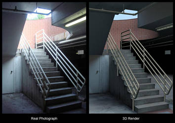 Stairs - 3ds max, 2006 by AlexTheMartian