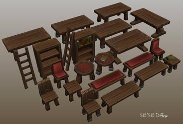 Wooden Stuff. by Jimpaw