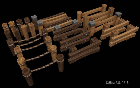 Wooden Fence asset by Jimpaw