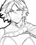 Power Girl inked by Phiar