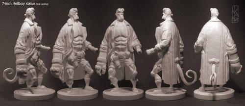 7-inch Hellboy statue by Ivar-L