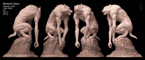 Werewolf statue test casting by Ivar-L