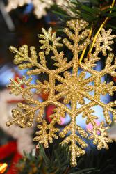 Gold snowflake by fotografka