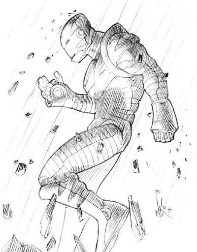 Iron Man Sketch by RobNiko