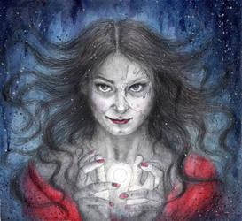 Portrait of  Dark  Queen by lil-sally