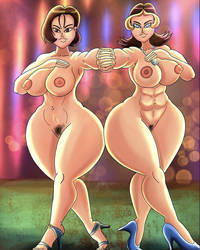 JoAnna and Francesca Nude by Newtypemo