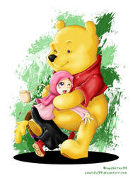 Pooh With Hijab Girl by viewtiful94