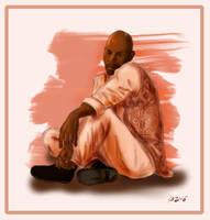 DrawEverythingJune#14 - Benjamin Sisko (Star Trek) by Dahkur