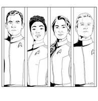 Lineart Panels - Star Trek Discovery by Dahkur