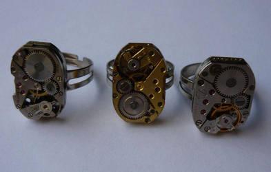 Three Movement Rings by aequinox