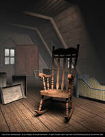FREE STOCK Background.  Creepy Old Attic by ArtReferenceSource