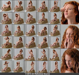 Elizabeth 30 Seated and Expressive Nudes Stock by ArtReferenceSource