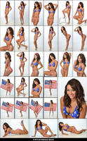 Stock:  Molly in US Flag Bikini by ArtReferenceSource