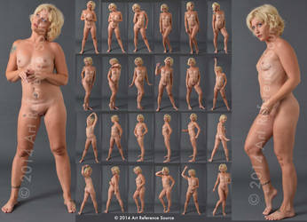Stock:  Gabrielle 25 Standing Nudes by ArtReferenceSource