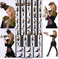 Stock:  Taylor Steampunk Outfit and Props by ArtReferenceSource