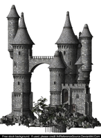 Free Stock:  Castle PNG by ArtReferenceSource