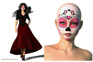 Free Stock PNG:  Sugar Skull by ArtReferenceSource