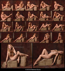 Stock:  Poppy Seed 20 Seated Nude Poses by ArtReferenceSource