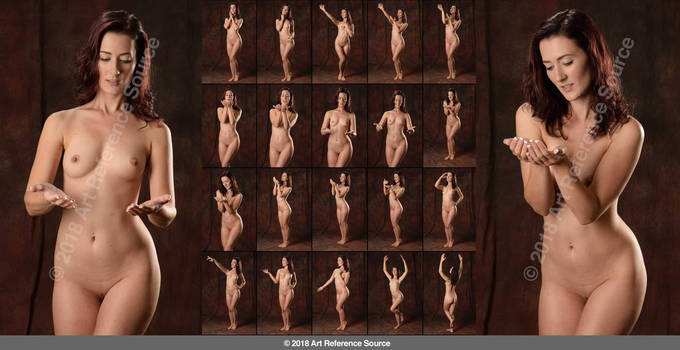 Stock:  Jessica Nude Poses with Expressive Hands by ArtReferenceSource