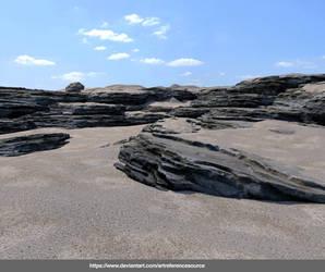 Free Stock Background:  Layered Rocks by ArtReferenceSource