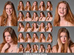 Stock:  Allysia 25 expressions by ArtReferenceSource