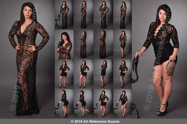 Stock: Alyssa E in Sexy Lace Gown and Dress by ArtReferenceSource