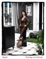 Portfolio:  Alyssa in sexy lace black gown by ArtReferenceSource