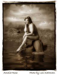 My portfolio:  Amelia Rose Sitting on Rock by ArtReferenceSource