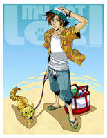 MY CAT LOKI - BEACH TIMES by DreamworldStudio