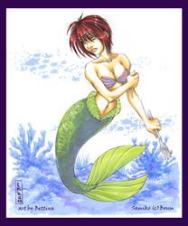 Samiko as Ariel-Art Exchange by DreamworldStudio