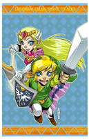 LoZ: ST - Link and Zelda by DreamworldStudio