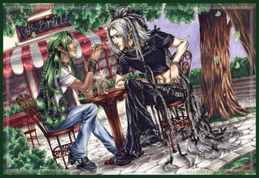Cafe Brulee - COMMISSION by DreamworldStudio