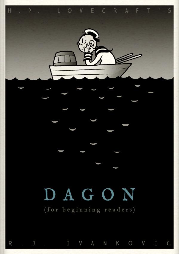 HPL's Dagon (for beginning readers) - Cover by DrFaustusAU