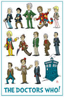 The Doctors Who (print) by DrFaustusAU