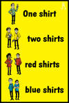 One shirt, two shirts, red shirts, blue shirts by DrFaustusAU