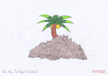 Palm Atop The Rugged Embankment by Naean
