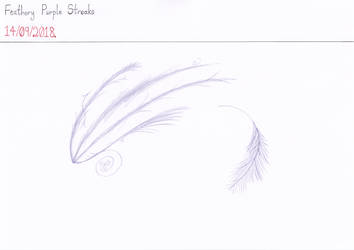 Feathery Purple Streaks by Naean