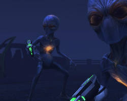 X-Com Enemies - Sectoids by Dragonlord965