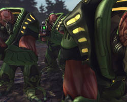 X-Com Enemies - Muton by Dragonlord965