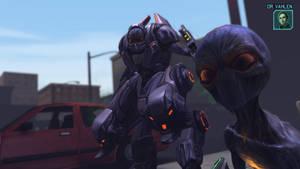 X-Com Enemies - Mechtoid by Dragonlord965