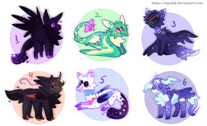 creatures Mixed / adoptable [closed] by Topolok