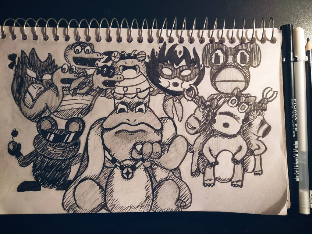 Wart and his goons. by BakuhatsuNoKami