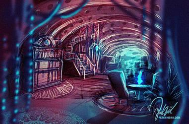 Submarine interior concept by peach-mork