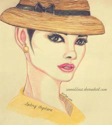 Audrey Hepburn Portrait by samabbasi